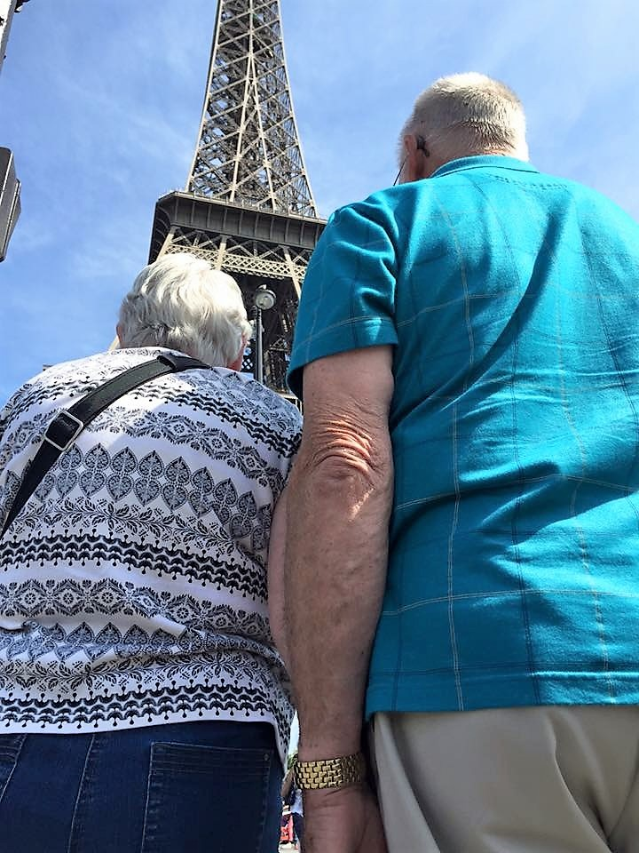 Mom, Dad and the Eiffel Tower, Paris, 2015