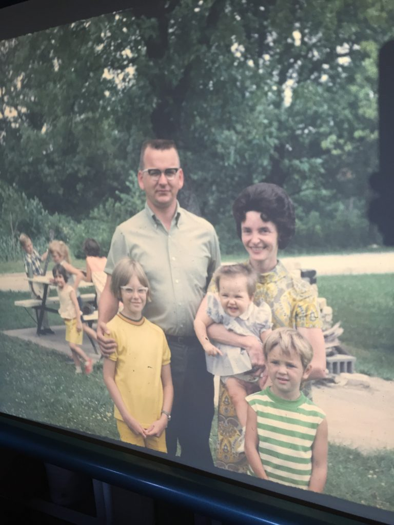 Kim, Dad, Mom, Janet, Sue, Family Reunion, 1968
